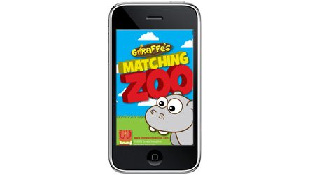 Giffaffe's Matching Zoo iPhone App For Kids