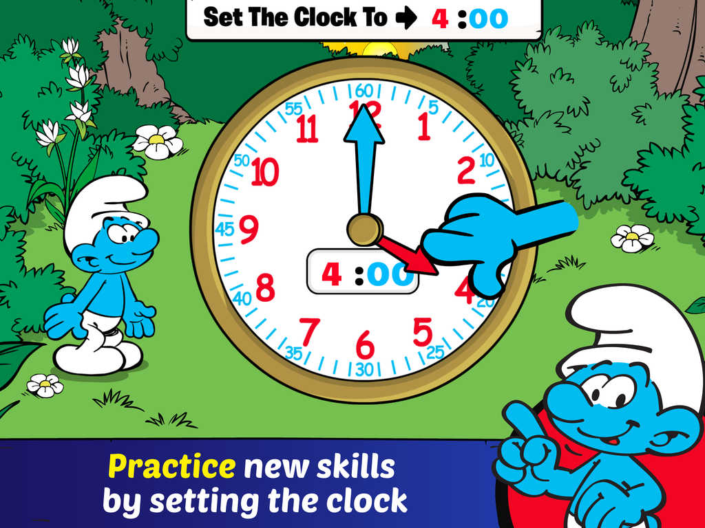 Worksheet Telling Time Online Activities learning time apps archives best for kids telling with the smurfs