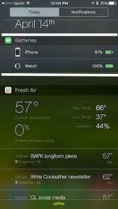 Battery health in Notification Center