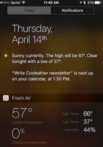 Notification Center on iPhone