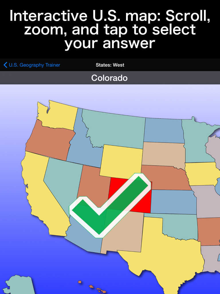 United States Map Quiz App