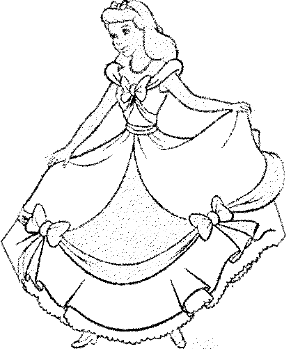 Print amp Download  Impressive Cinderella Coloring Pages