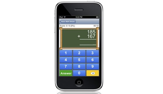 Basic Math Deluxe App for the iPhone