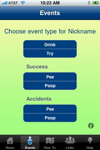 Potty Predictor - potty training app for the iphone
