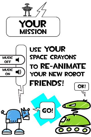 Space Crayons iPhone / iPad / iPod App for Kids