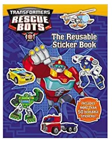Transformers Rescue Bots Reusable Sticker Book by Trey King