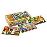 Melissa & Doug Wooden Pets Jigsaw Puzzles in a Box