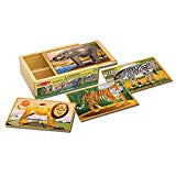 Melissa & Doug Wooden Zoo Jigsaw Puzzles in a Box