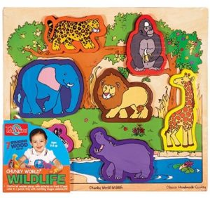 T.S. Shure Chunky World Wildlife Wooden Chunky Puzzle