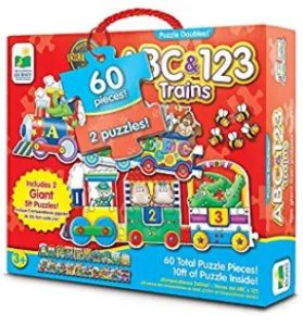 The Learning Journey Puzzle Giant ABC & 123 Train Floor Puzzle