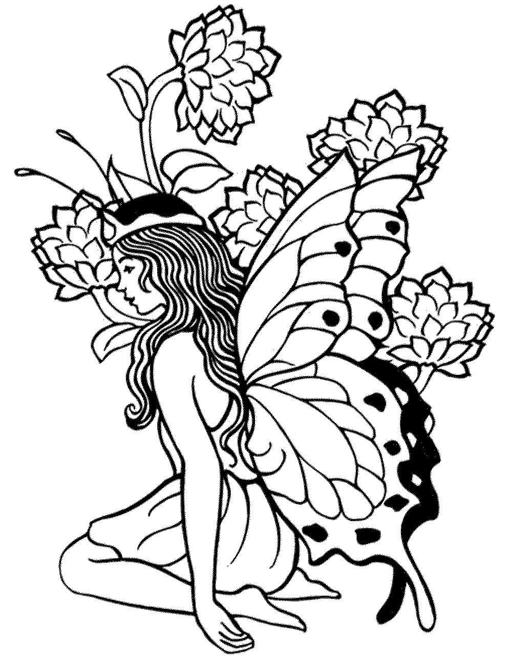 coloring pages for adults printable free - Fantasy Coloring Pages Adults