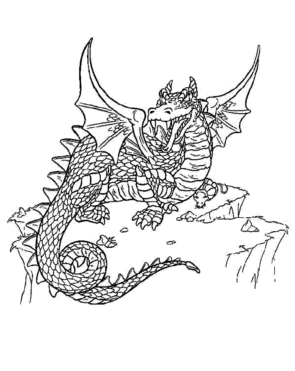 dragon coloring pages for adults BestAppsForKidscom