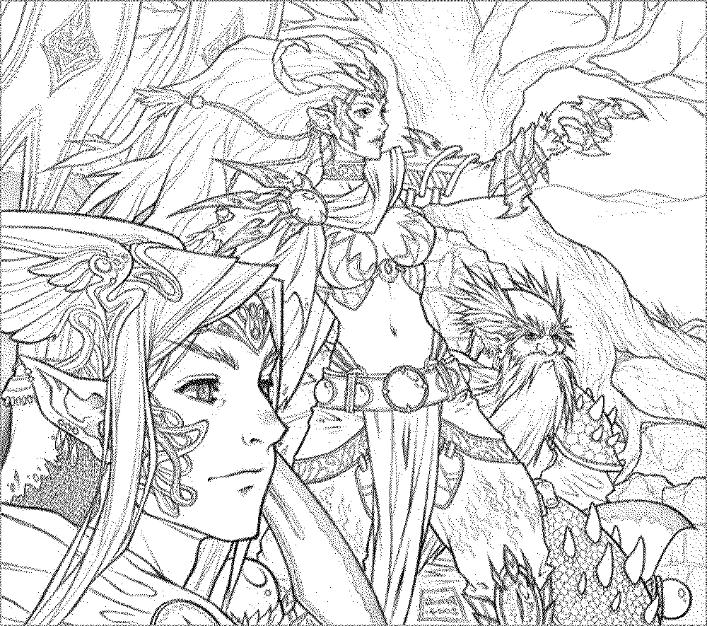 check - Fantasy Coloring Pages Adults