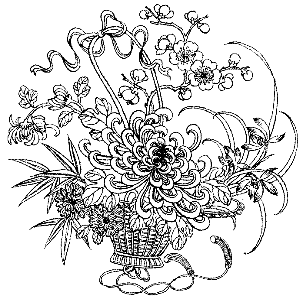 Free Flower Coloring Pages For Adults Bestappsforkids Com