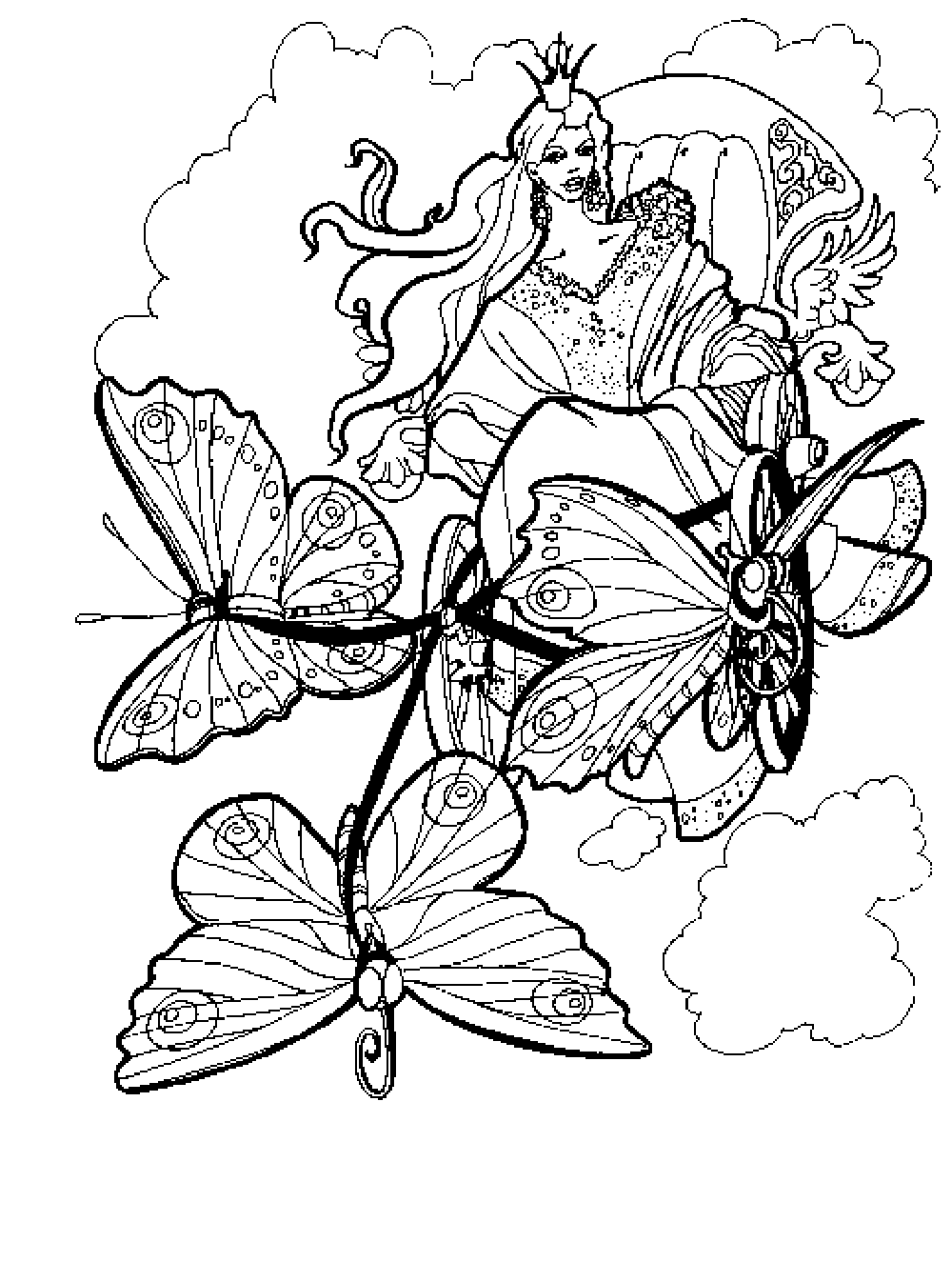 free printable advanced coloring pages for adults - Fantasy Coloring Pages Adults