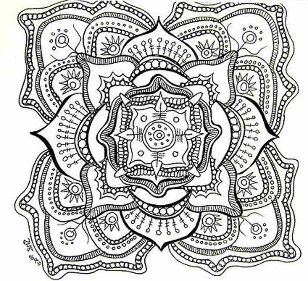 Free Printable Mandala Coloring Pages For Adults Coloring Pages For Adults