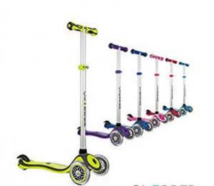 8. Globber 3 Wheel Adjustable Height Scooter