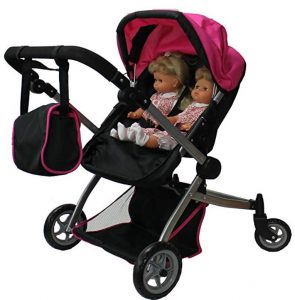 Babyboo Deluxe Twin Doll Pram