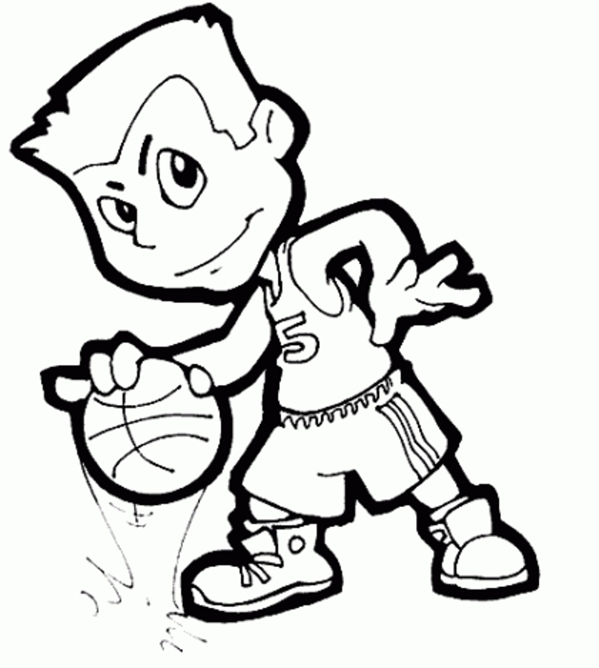 Basketball Coloring Book Pages