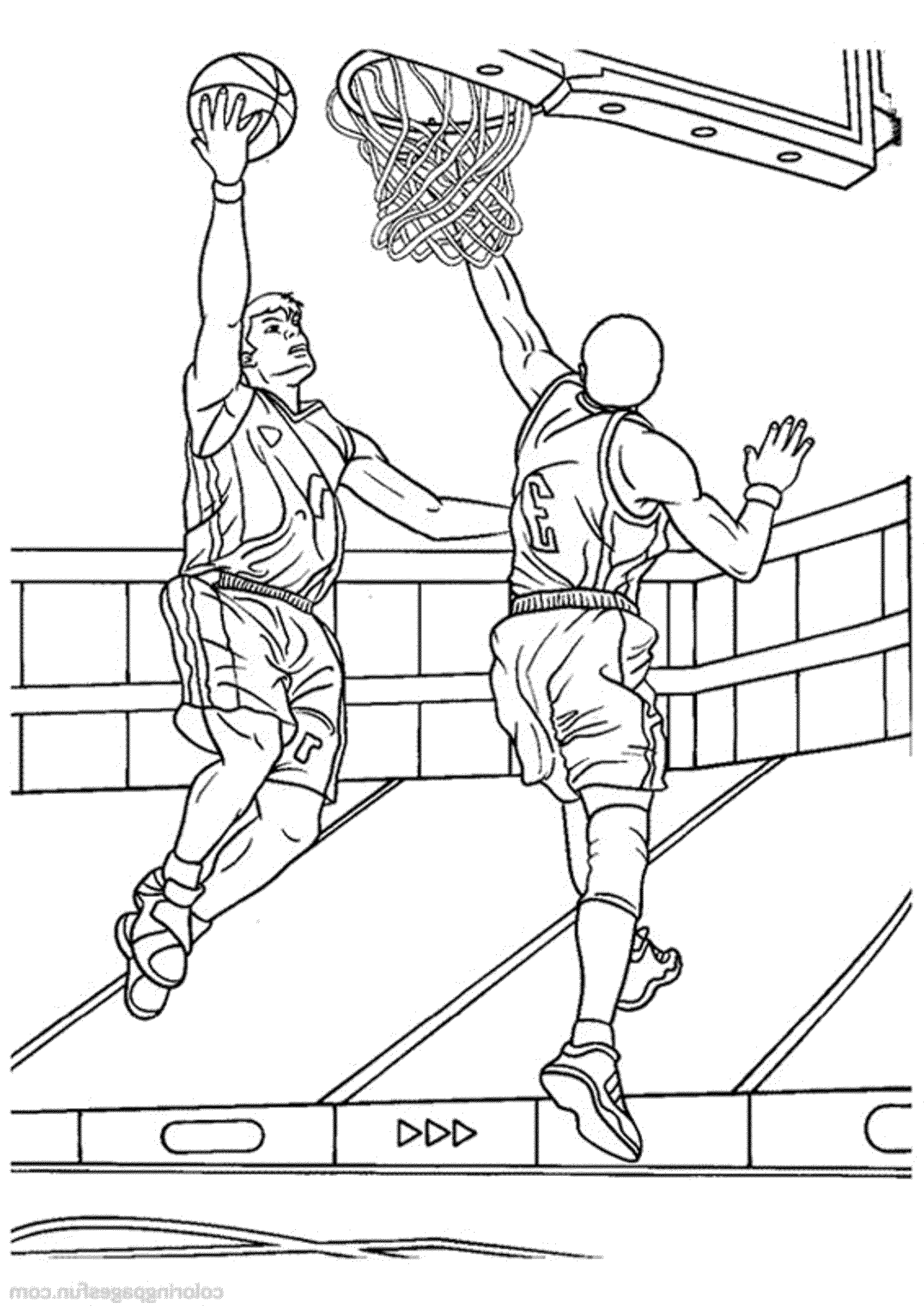 Print download interesting basketball coloring pages for Free basketball coloring pages