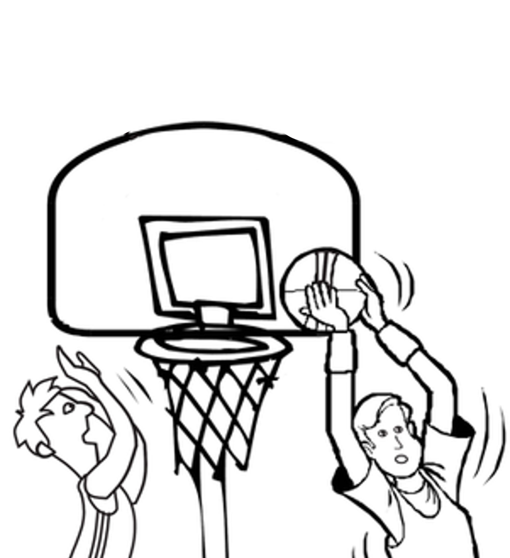 basketball color pages - print download interesting basketball coloring pages