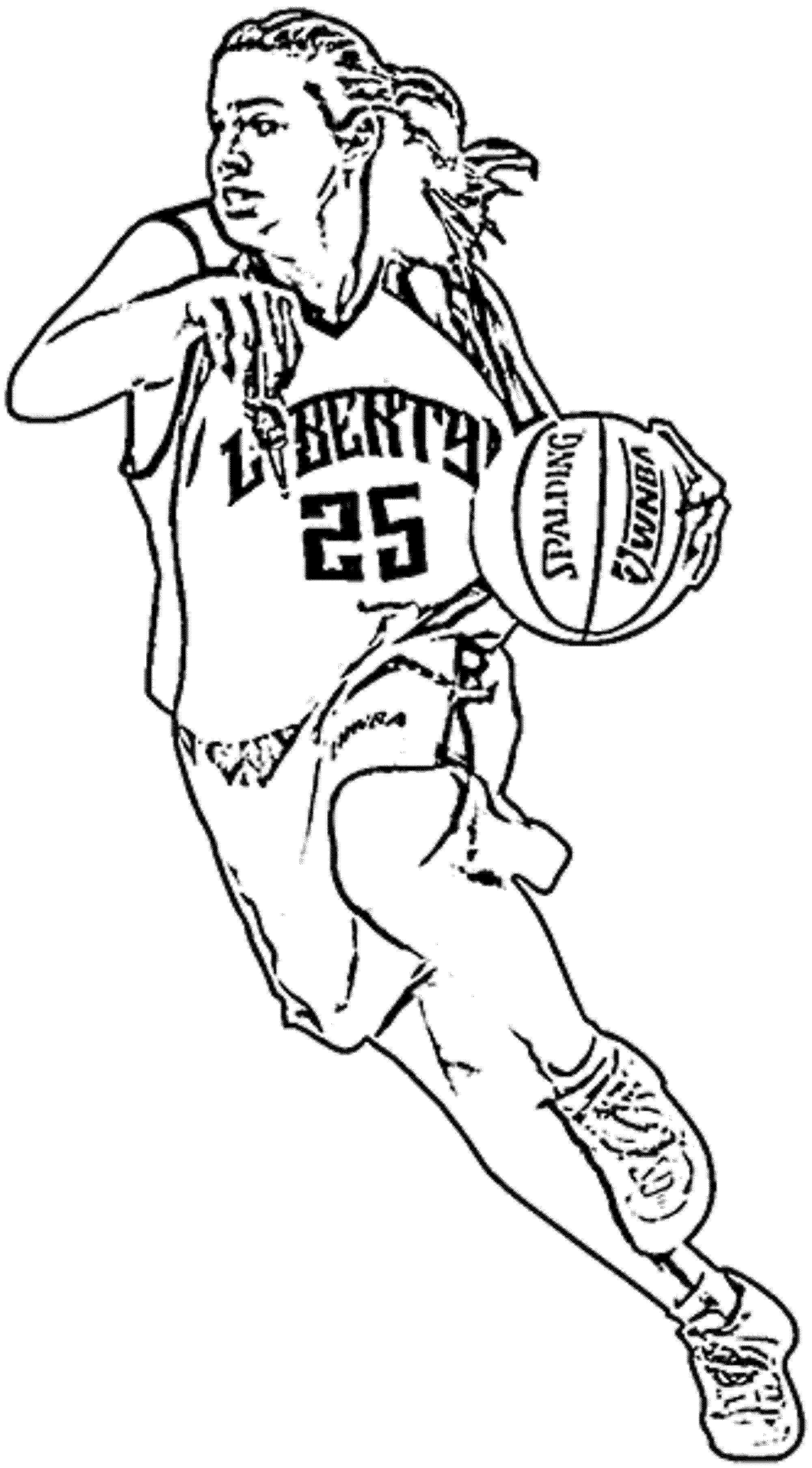 basketball player printable coloring pages - photo#7