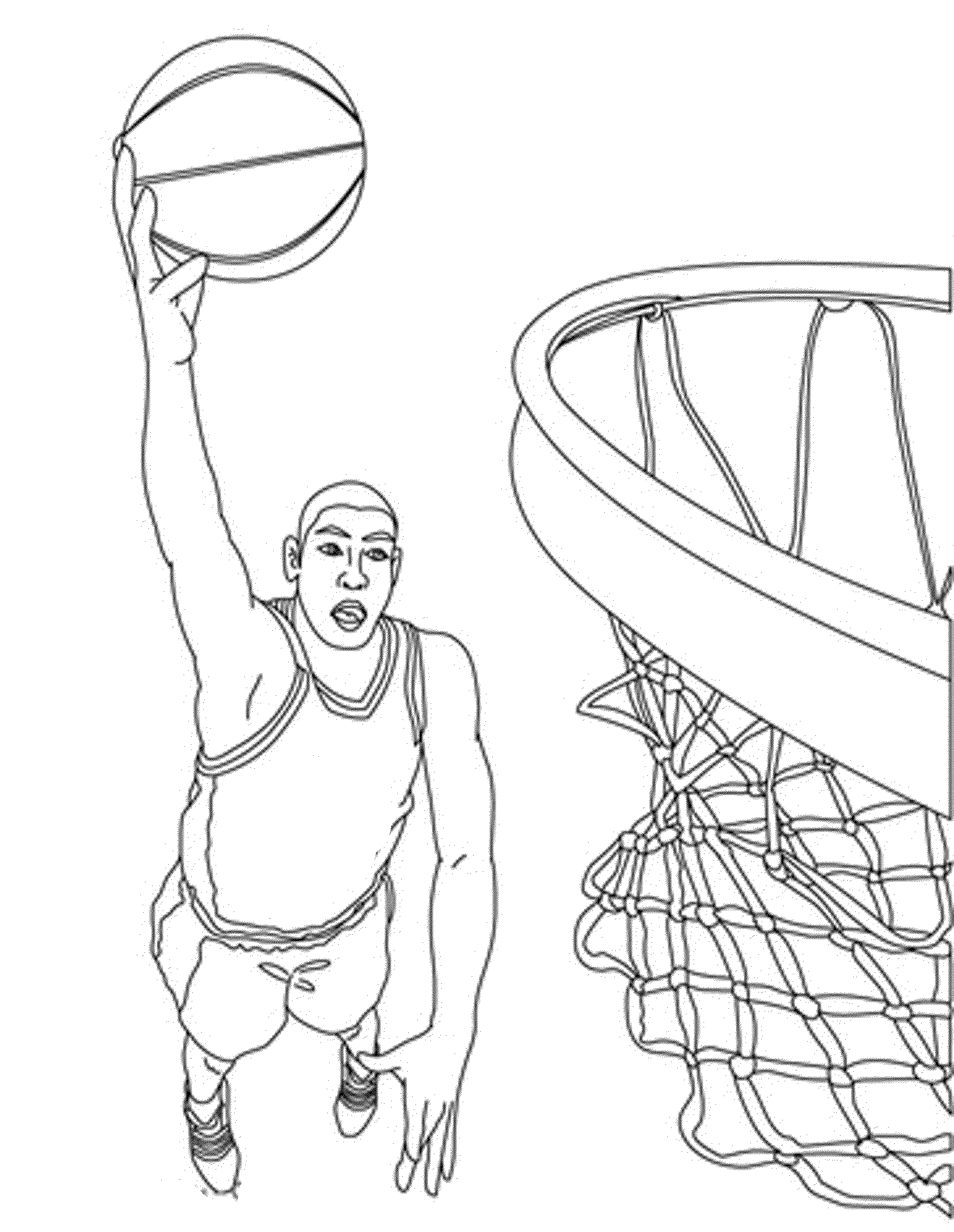 Coloring Pages Of A Basketball Hoop