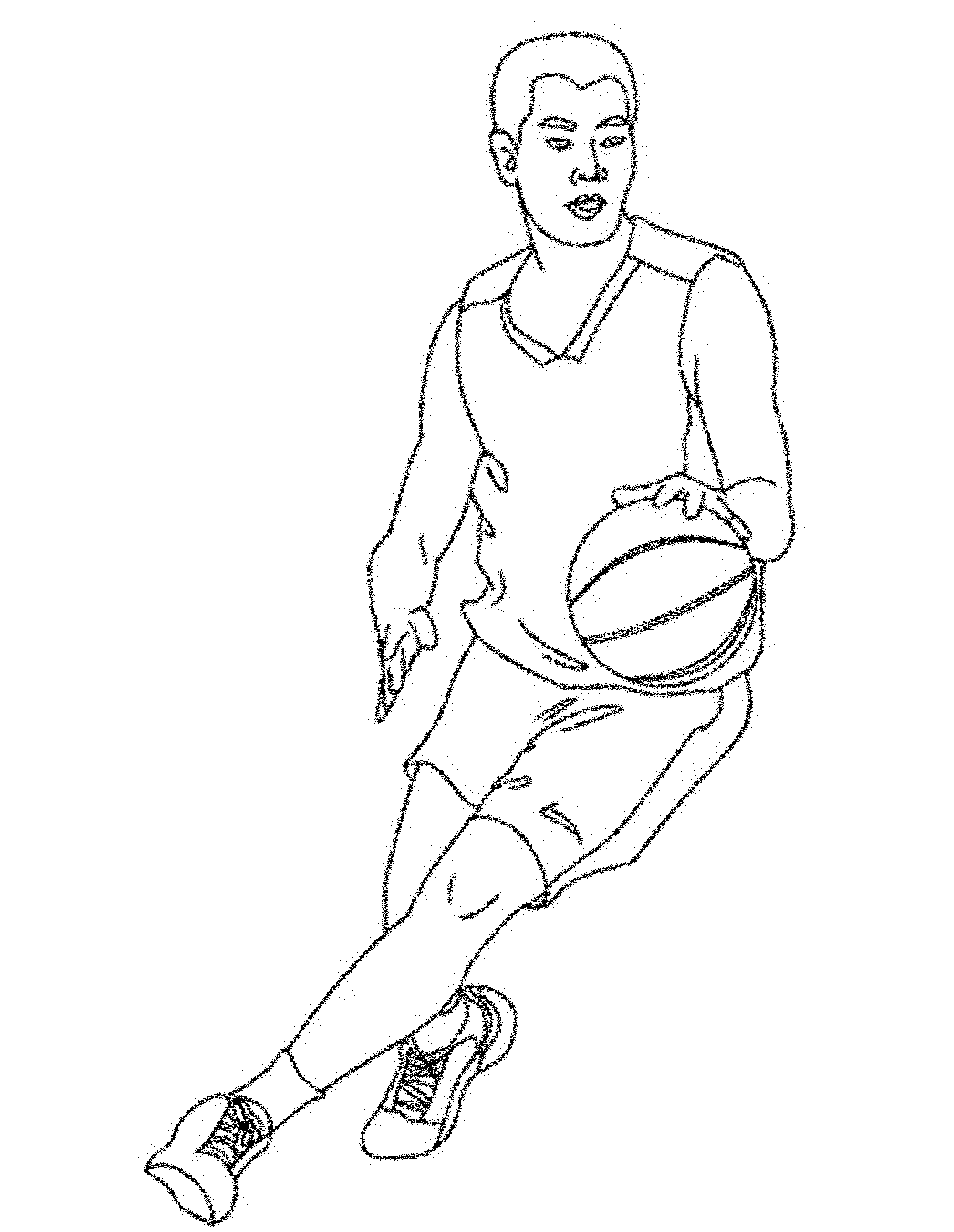 realistic basketball coloring pages - Coloring Pages People Realistic
