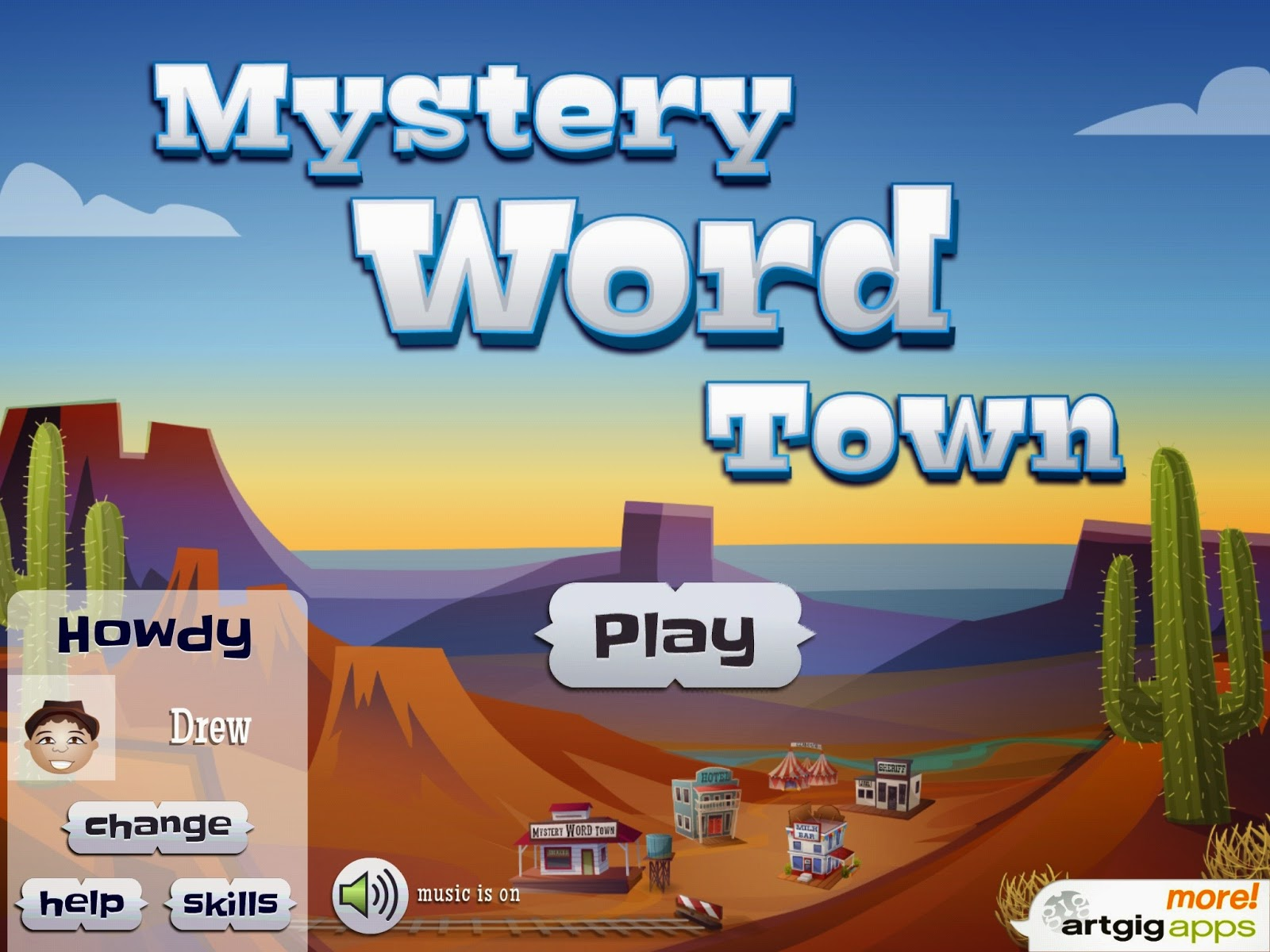 Mystery Word Town Sight Word Spelling