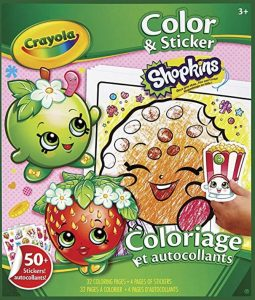 Crayola Shopkins Color and Sticker Book
