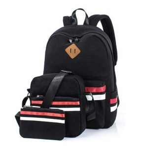 Leaper Casual Lightweight Canvas School Backpack and Laptop Bag