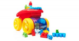 Mega Bloks Block Scooping Wagon Building Set Red