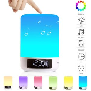 Keynice LED Bluetooth Speaker Alarm Clock