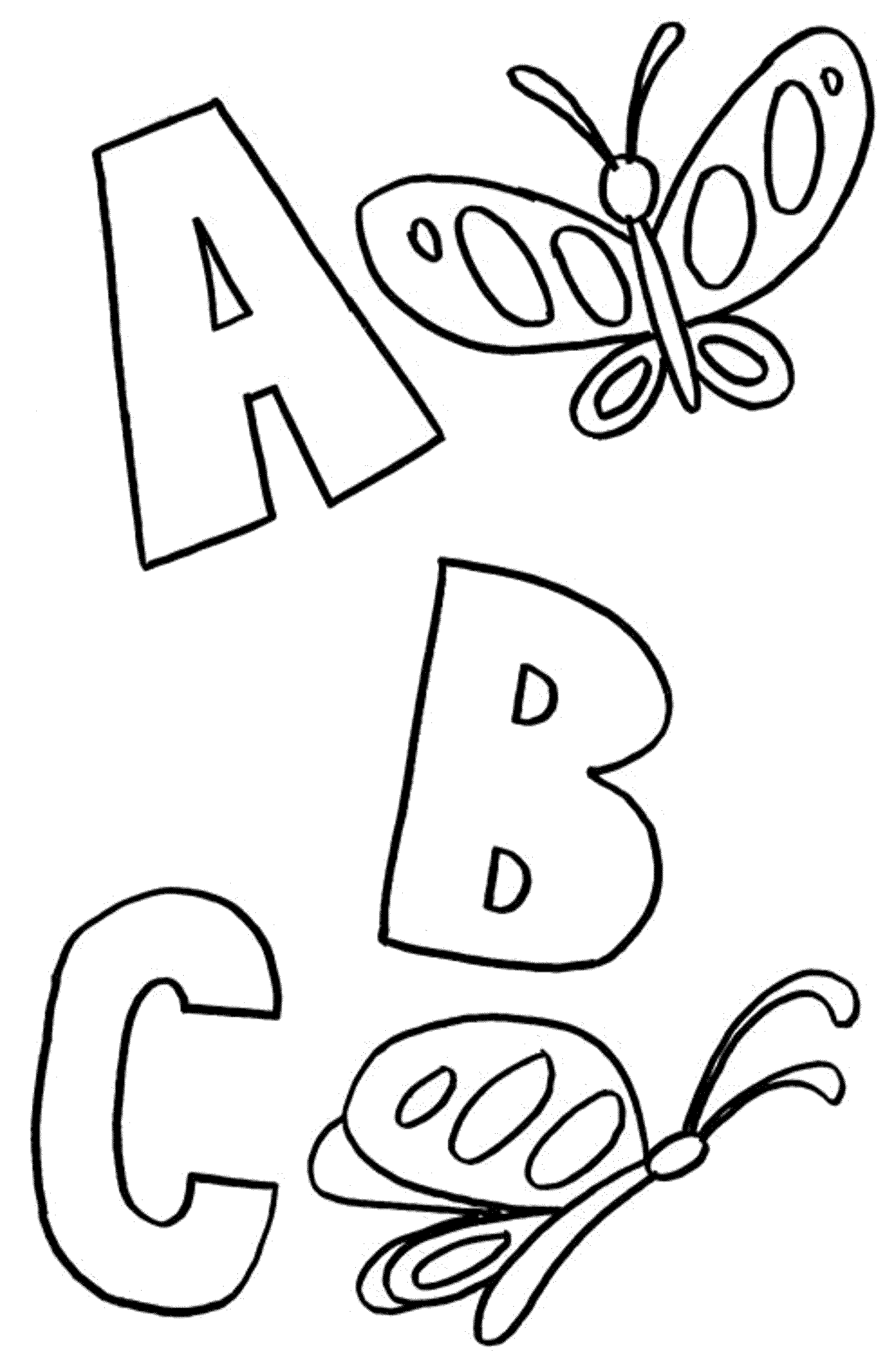 ABC Animals Coloring Pages Kindergarten