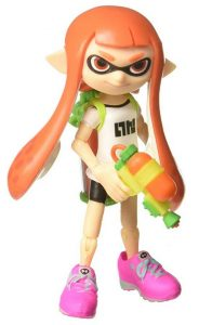 World of Nintendo Inkling Girl with Blaster Action