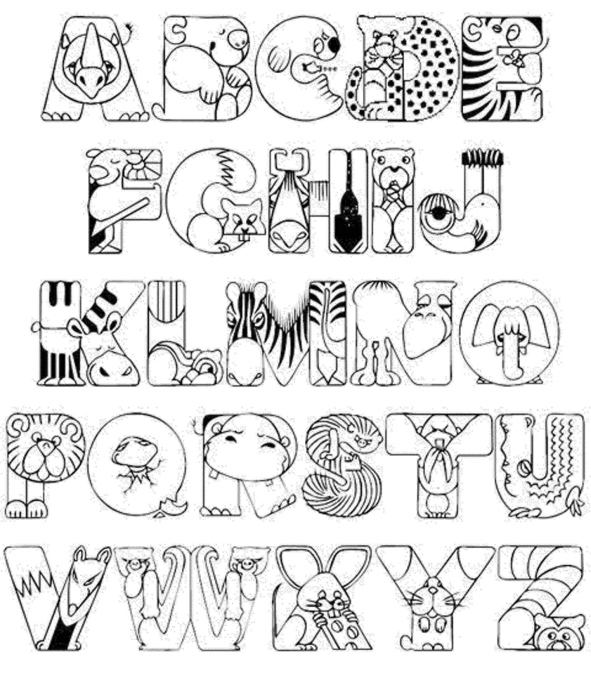 Abc Coloring Pages New Abccoloringpagesforkindergarten   Bestappsforkids Inspiration Design