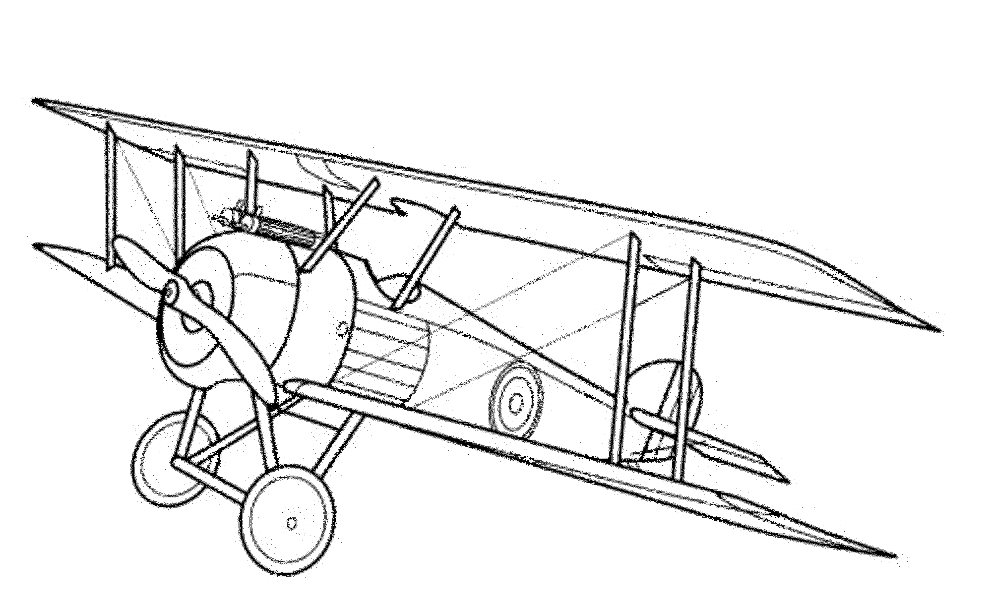 bi plane coloring pages - photo#20