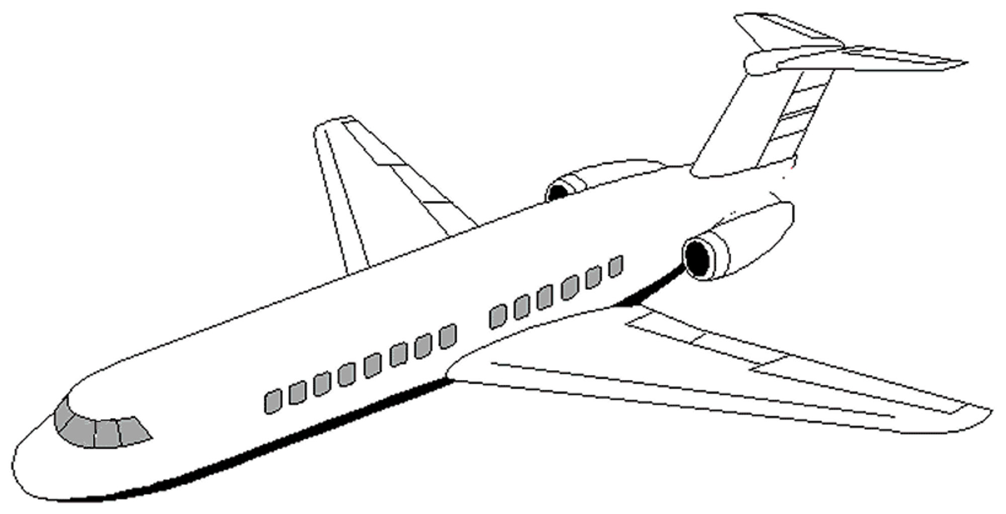 Print download the sophisticated transportation of for Coloring page jet