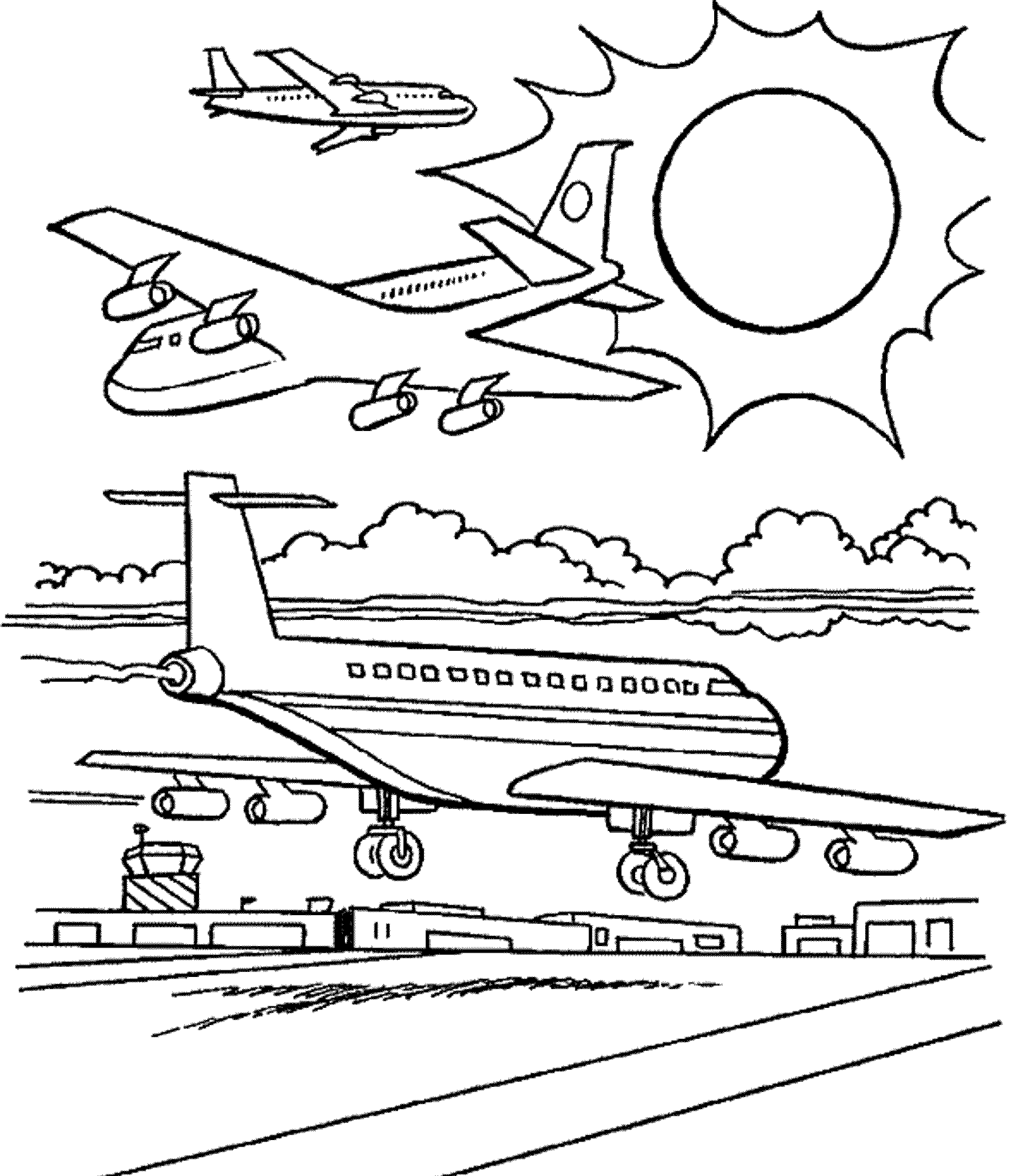 Coloring Pages For Airplanes : Plane coloring pages planes airplane