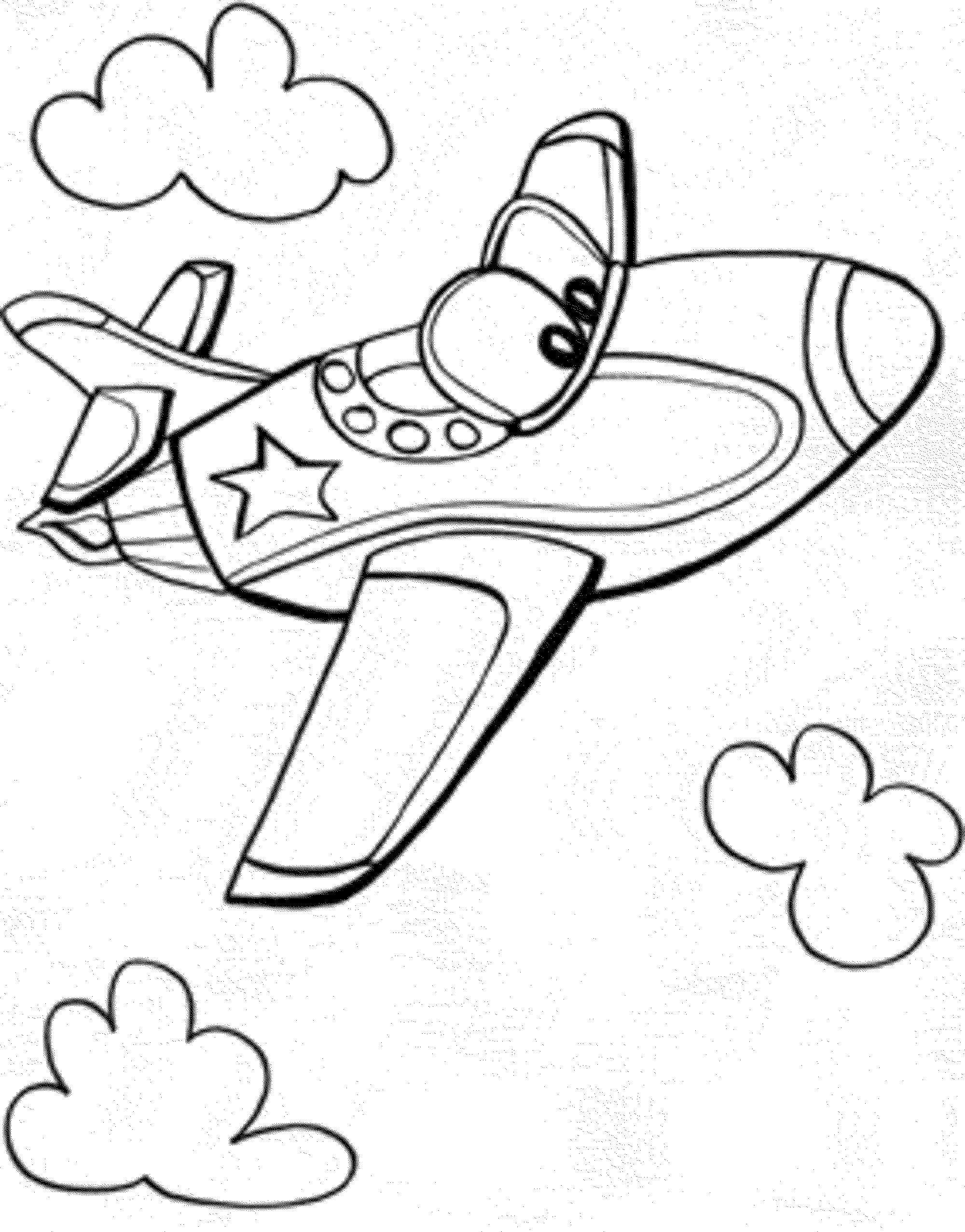 bi plane coloring pages - photo#32