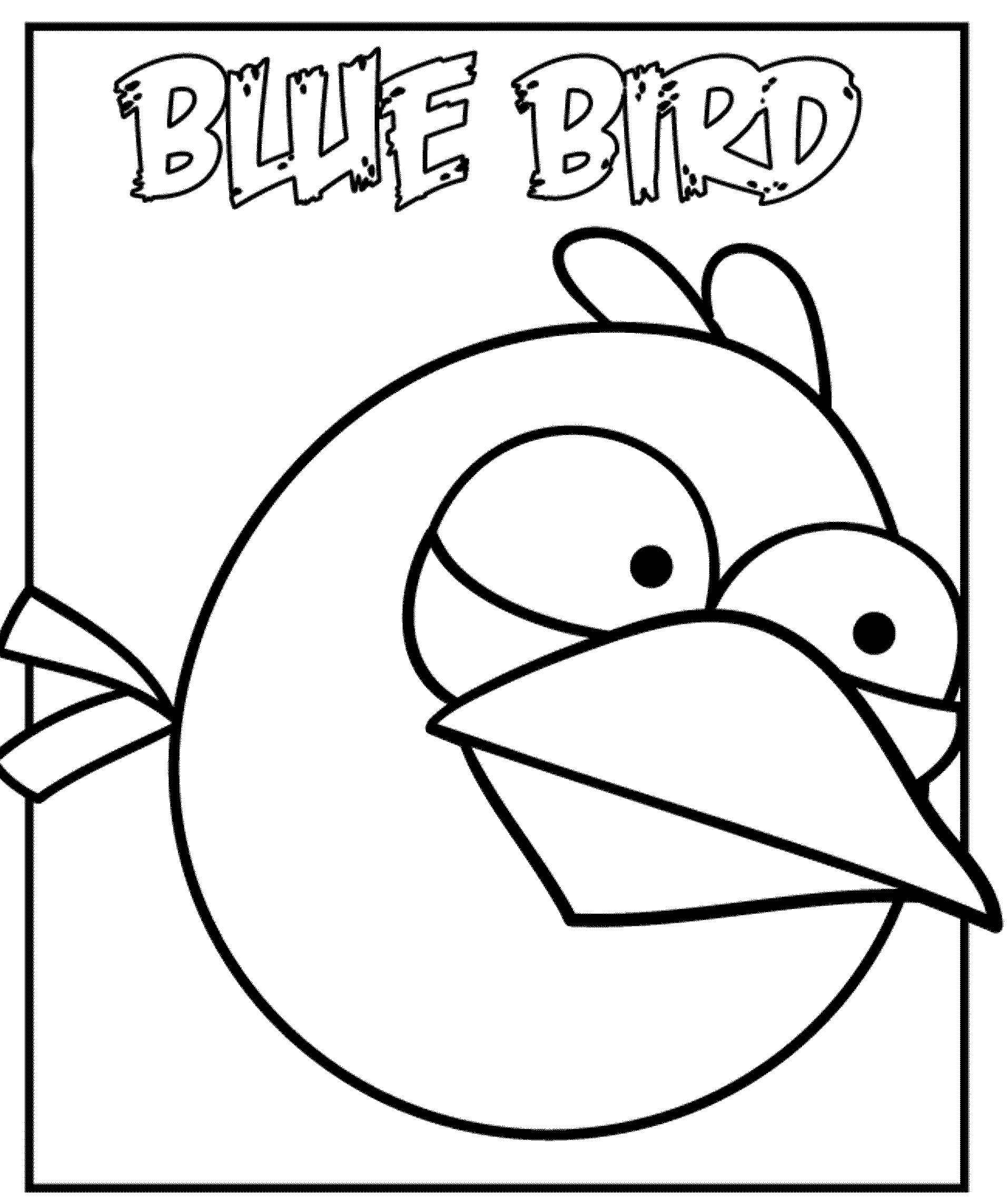 Angry birds coloring pages blue bird for Angry birds coloring pages for learning colors