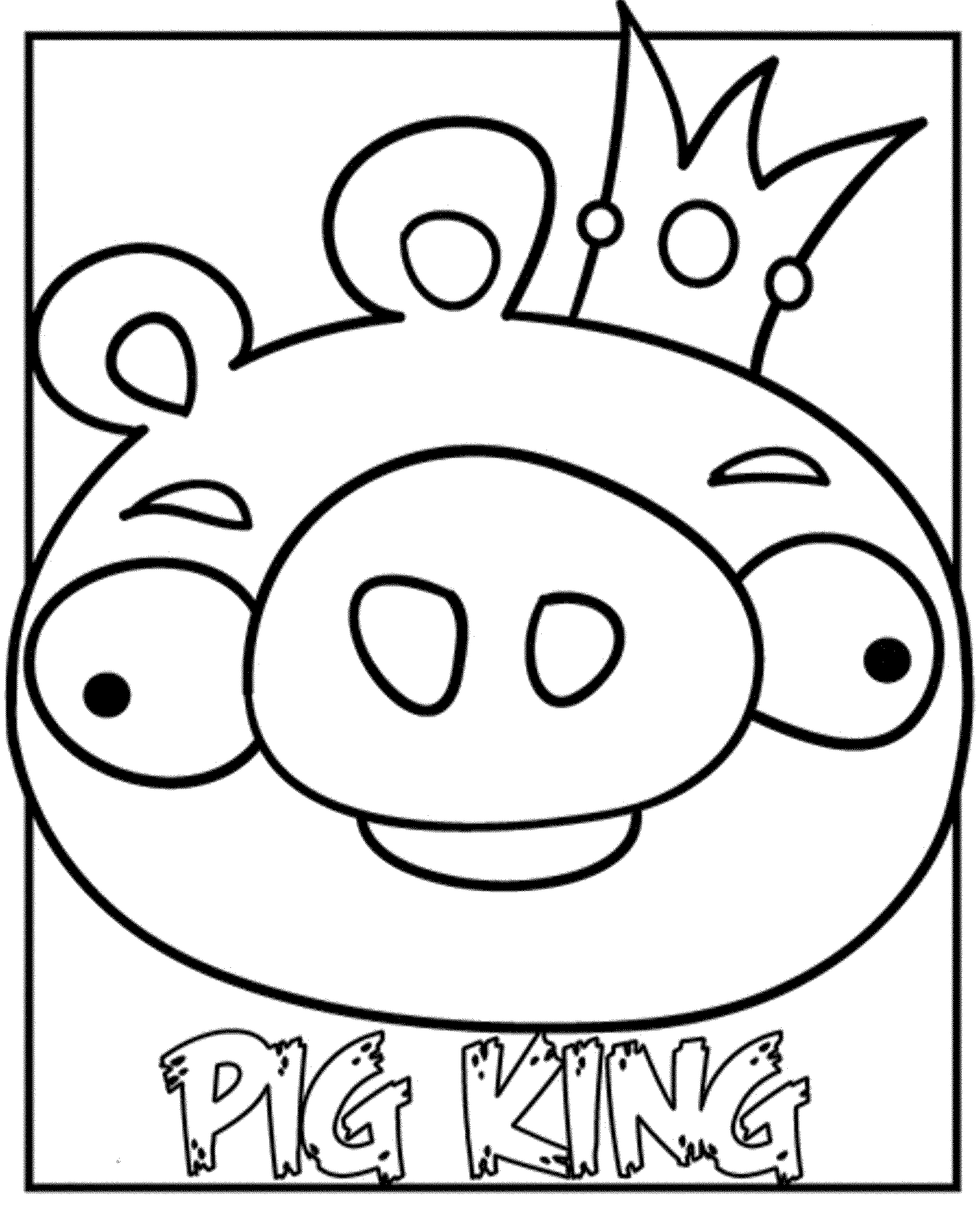 angry birds coloring pages pig king - Angry Birds Coloring Pages