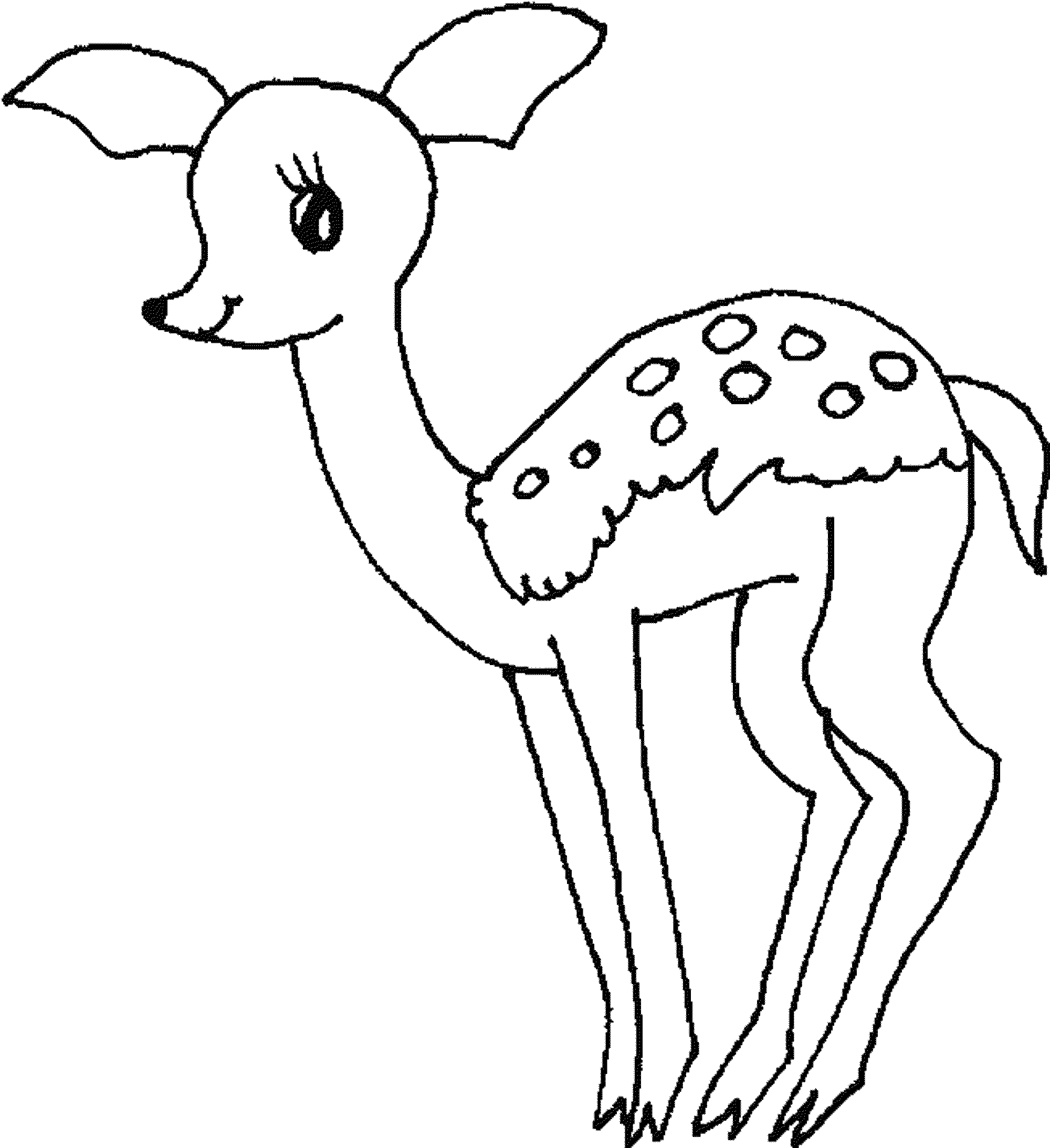 baby deer coloring pages BestAppsForKidscom