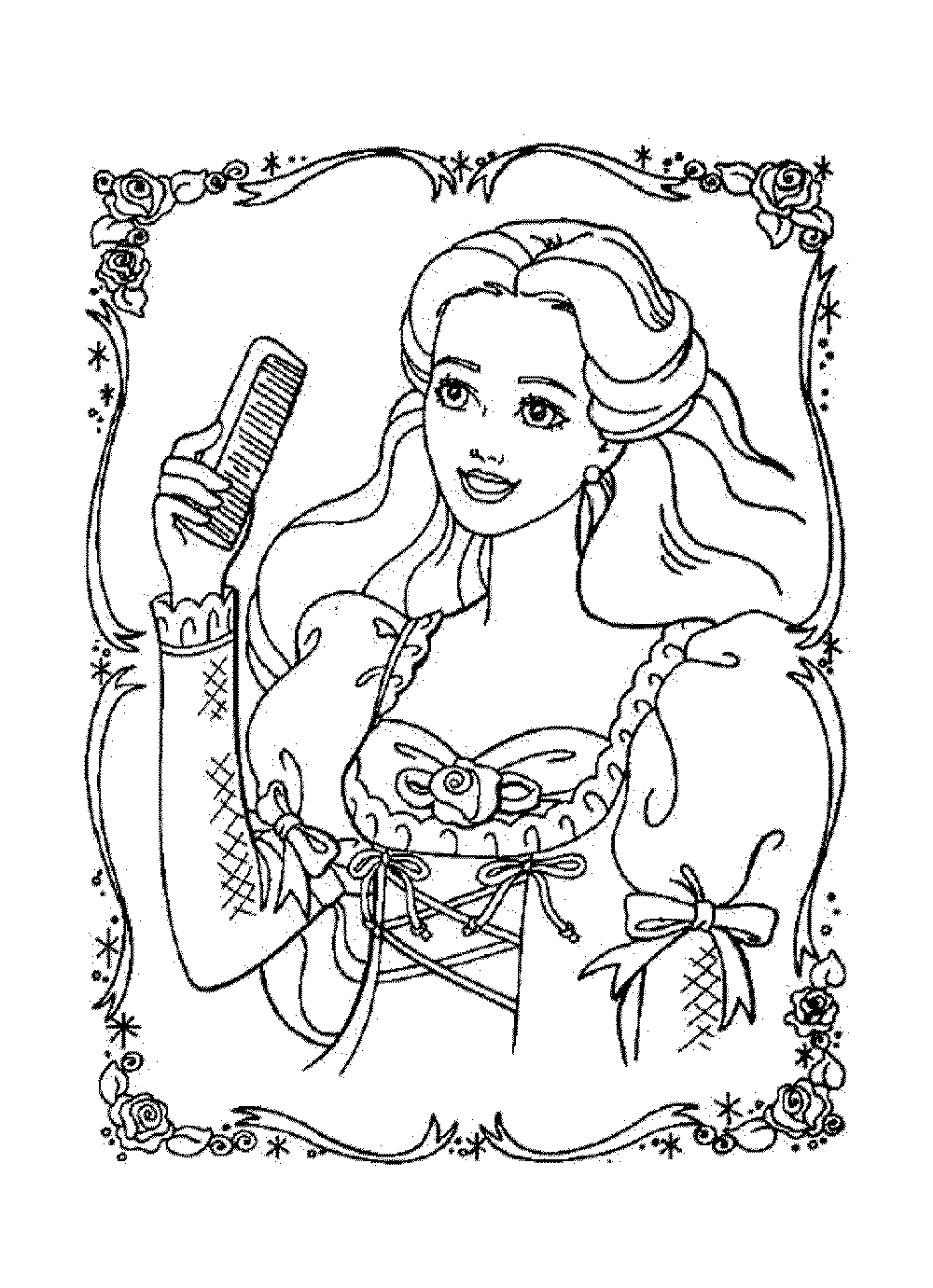 Barbie as rapunzel free colouring pages for Barbie free printable coloring pages