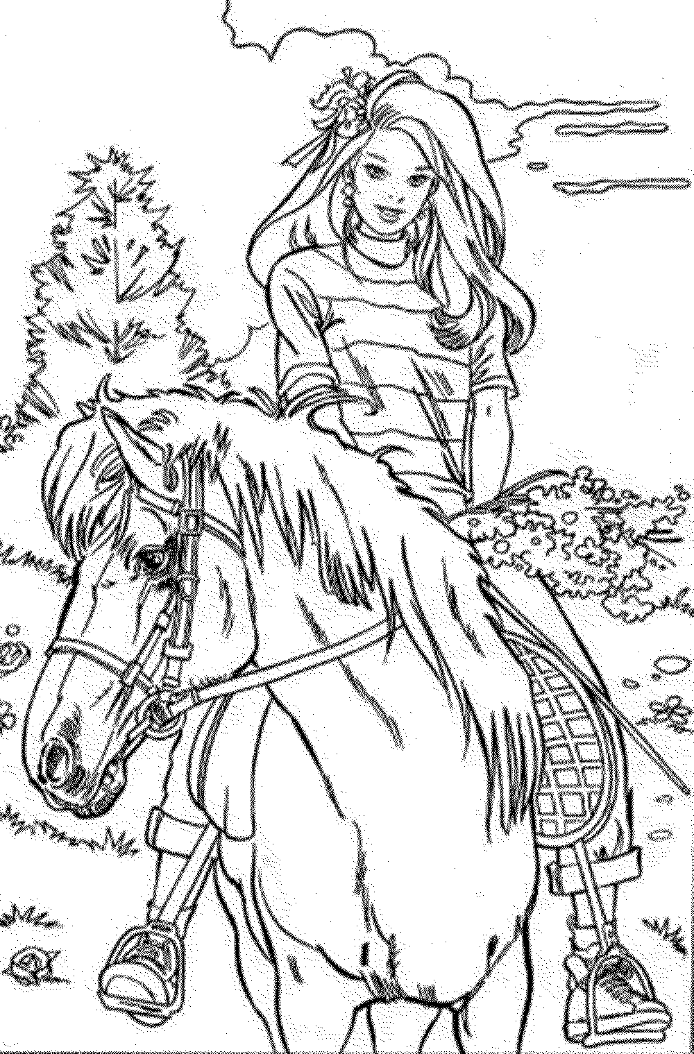 barbie-horse-coloring-pages | | BestAppsForKids.com