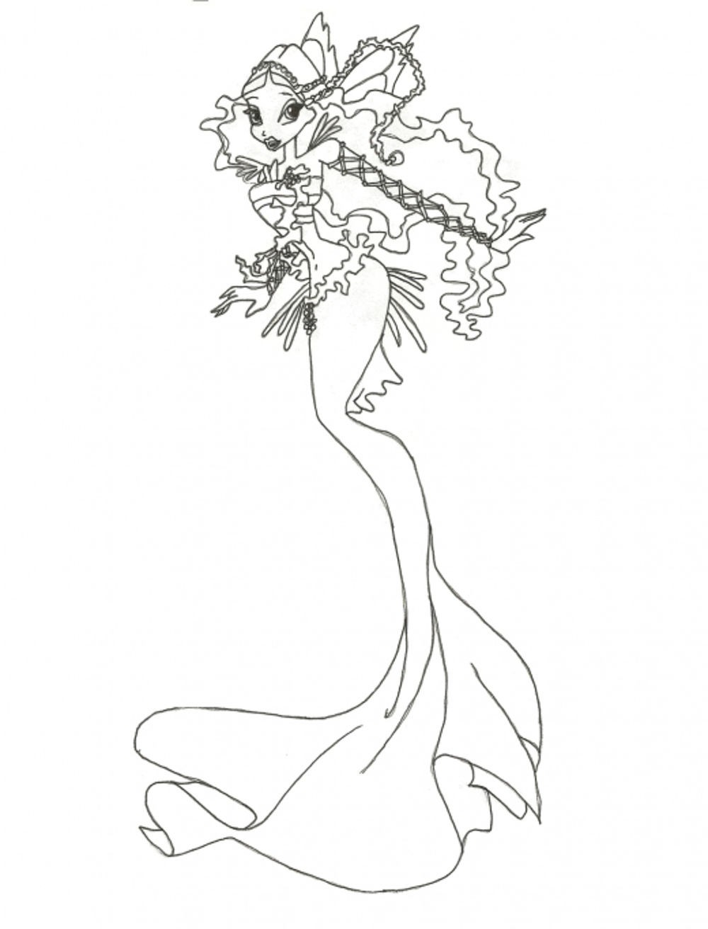 shop related products - Barbie Mermaid Coloring Page