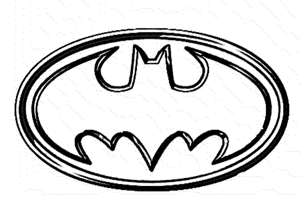 Print Batman Coloring Pages For Your Children Symbol Page Logo Free Printable