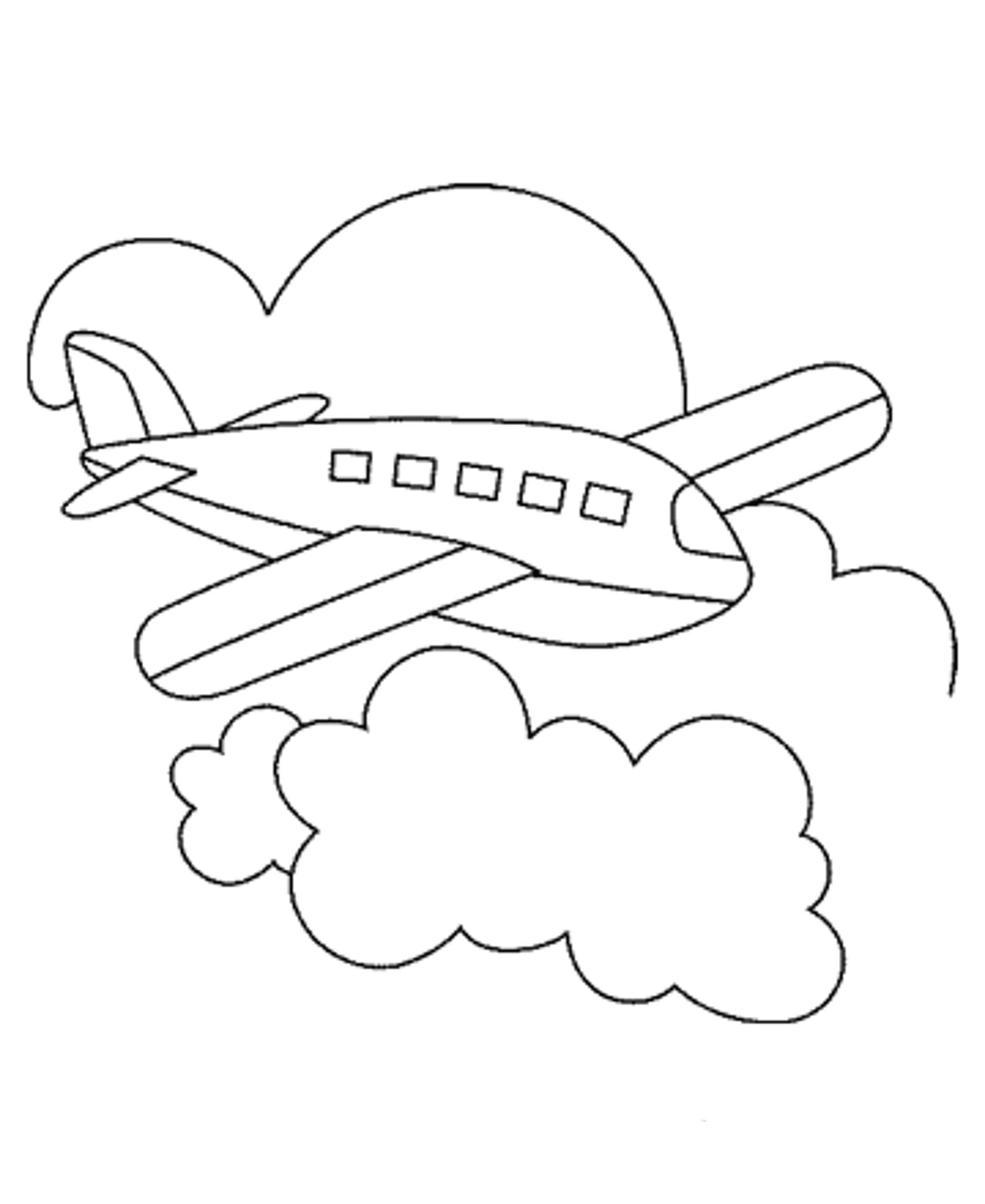 bi plane coloring pages - photo#28