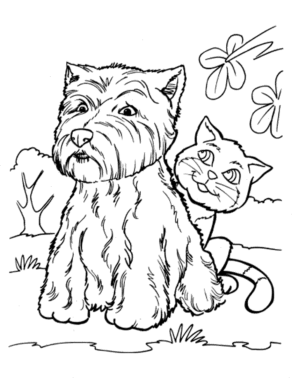 cat-and-dog-coloring-pages | | BestAppsForKids.com