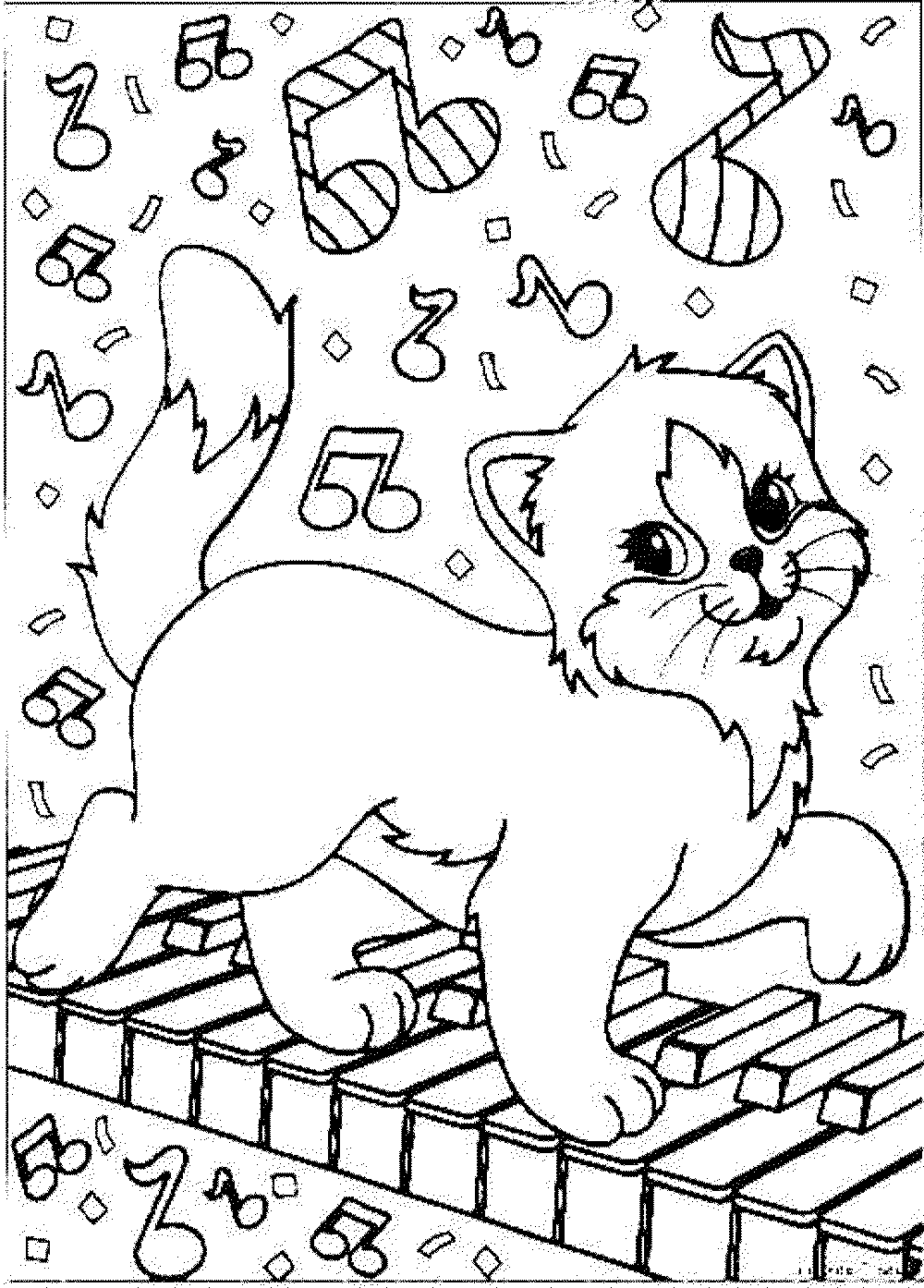 Print Download The Benefit Of Cat Coloring Pages